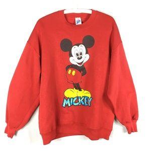 Vintage 80s sweatshirt Mickey Mouse red crewneck